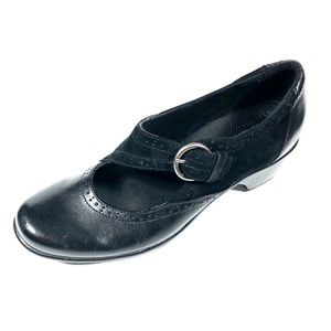 Clarks Womans 39345 Black Leather Mary Jane 7.5M